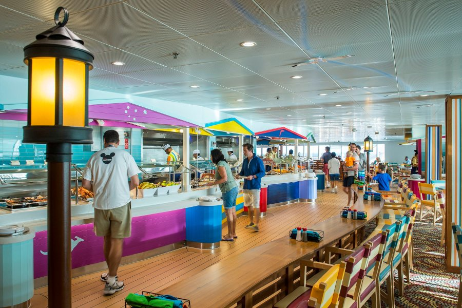 Cabanas buffet onboard Disney Cruise Line offers many choices