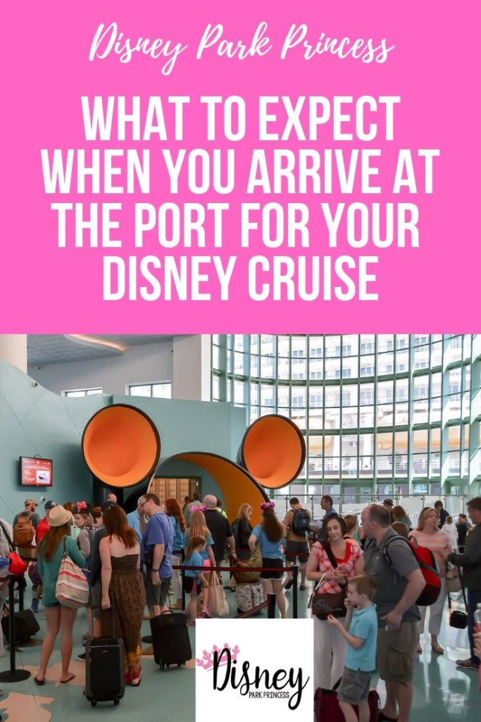 What to Expect When You Arrive at Port Canaveral for Your First Disney Cruise #disneycruise #disneycruiseline #portcanaveral