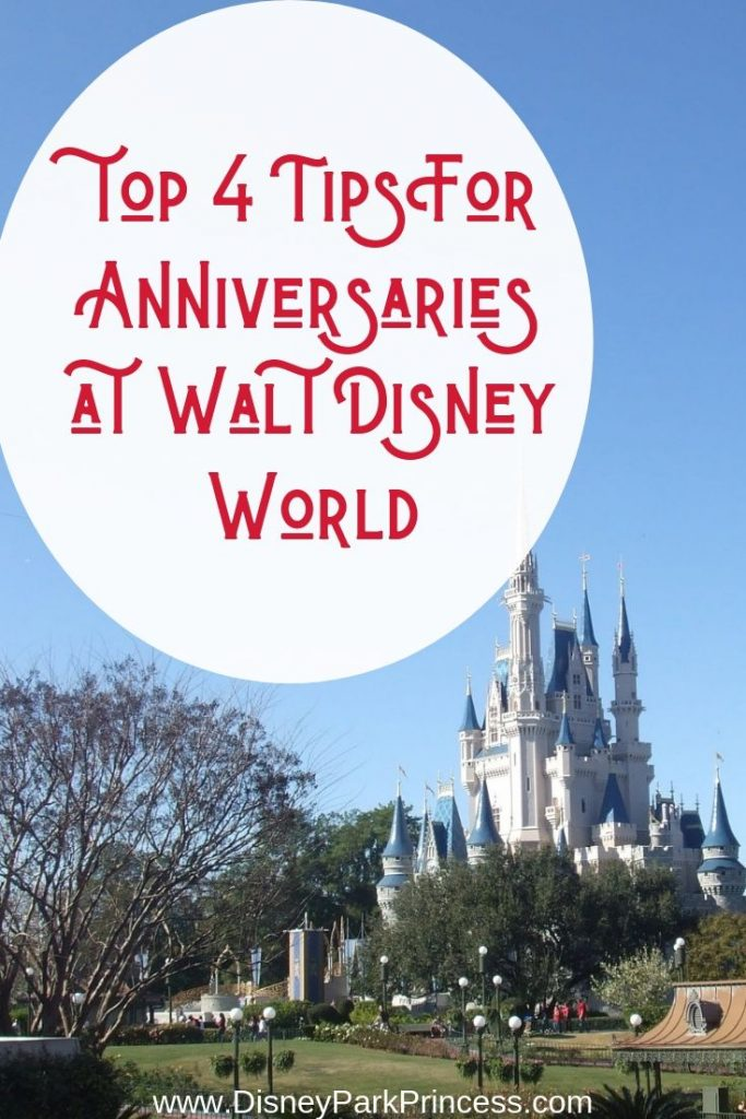 Our Top 4 Tips for Celebrating An Anniversary at Walt Disney World #disneyworld #anniversary #disneycelebrations