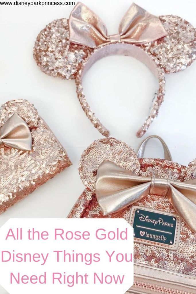 The Rose Gold trend is not going anywhere at Disney. See all the Rose Gold Disney merchandise that you have to have right now! #rosegold #disney #shopping #minnieears