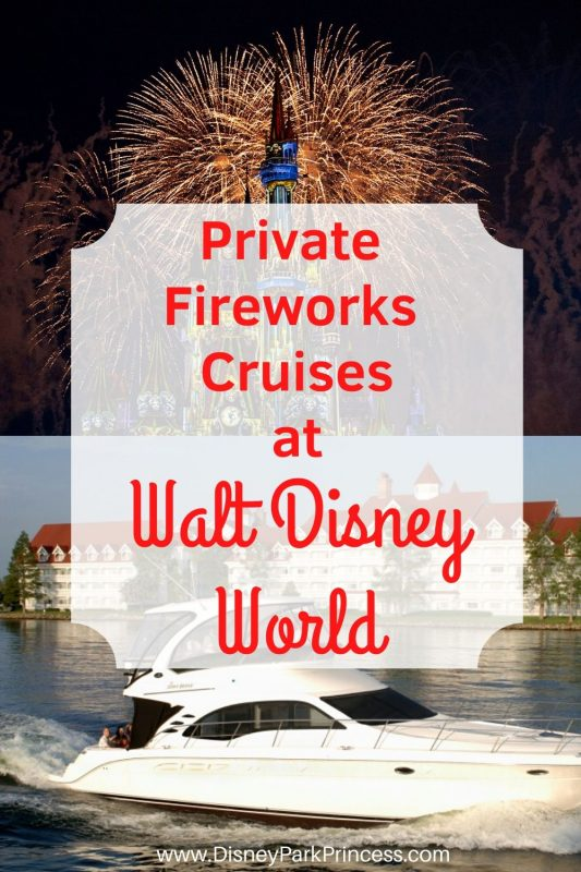 Private Fireworks Cruises at Walt Disney World are a fantastic way to add a little magic to your trip! Choose from a pontoon boat or even a private yacht. Learn what you need to know about booking one of these specialty cruises for your next vacation! #waltdisneyworld #grand1 #fireworkscruise #disneyworld #luxurytravel