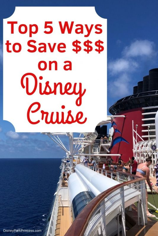 A Disney Cruise can be expensive. Learn our top 5 ways to save money on Disney Cruise - both before you book and onboard the ships! #disneycruise #disneycruiseline #dcl #disneycruisedeals #cruising #travel #savemoneyondisneycruise