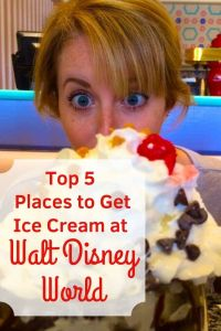 Ice Cream is one of our favorite treats at Walt Disney World! Click to learn our Top 5 Favorite Places to get Ice Cream at Walt Disney World! #waltdisneyworld #icecream #disneyworld #disneytreats #disneysnacks #wdw #disneyicecream