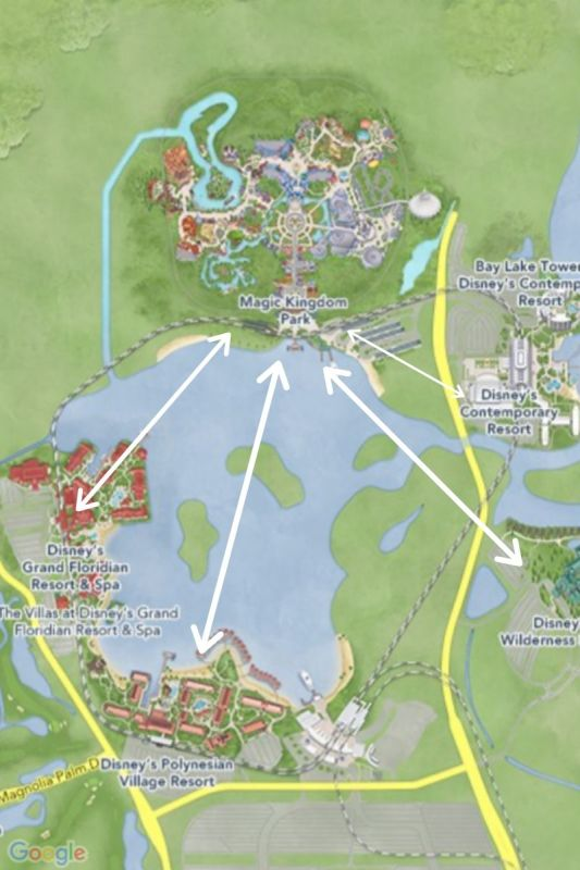 map maguc kingdom area resorts walt disney world