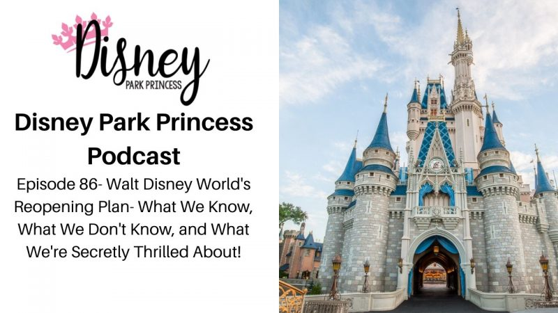 Episode 86- Walt Disney World's Reopening Plan- What We Know, What We Don't Know, and What We're Secretly Thrilled About!