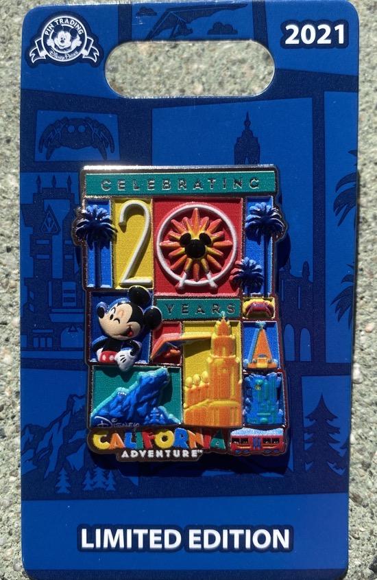 Disney California Adventure 20 Years Pin