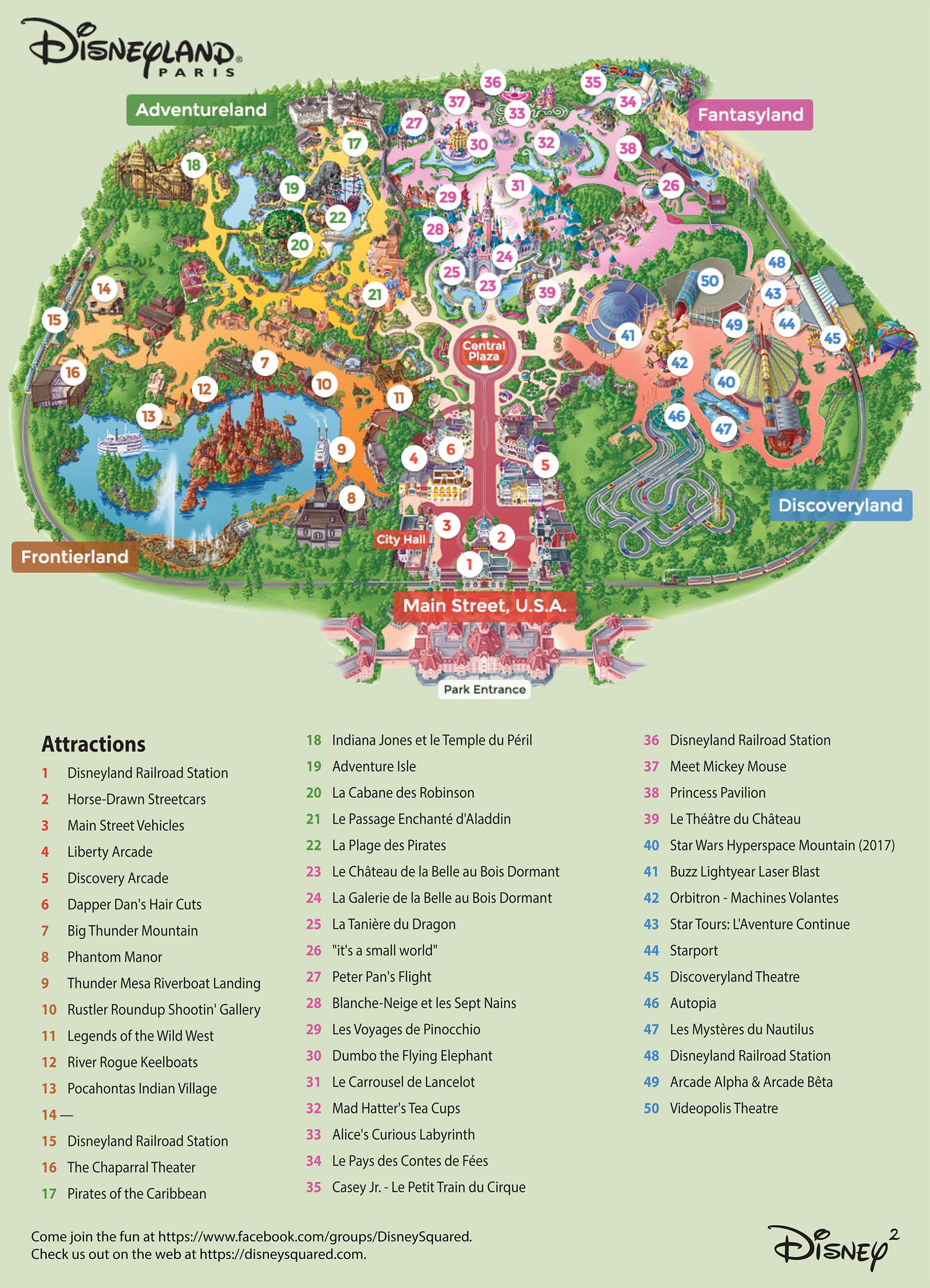Disneyland Paris Map 2020 : disneyland, paris, Disneyland, Paris, 三洋ガメッツ