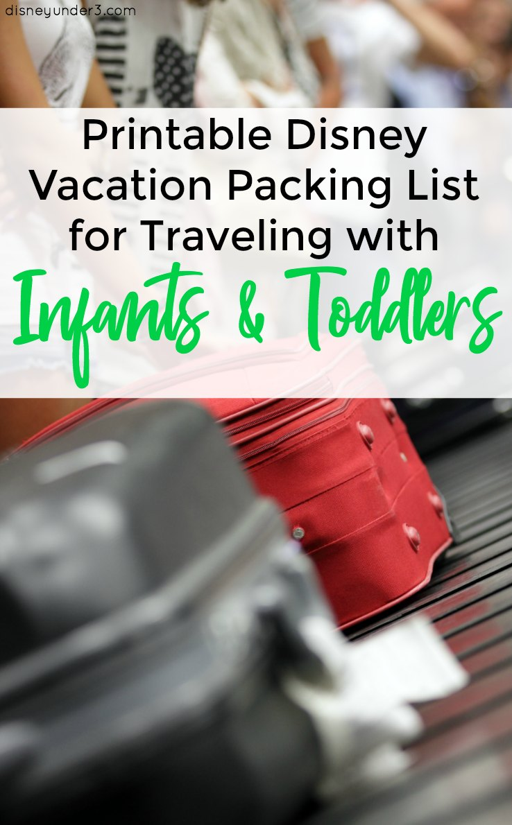 Printable Disney World Packing List When Traveling With Infants And  Toddlers - Magic Kingdom, Animal