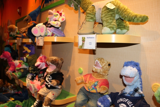 Build a Dino by Build a Bear Workshop TRex Marketplace Disney Springs Disney Vacation Pictures