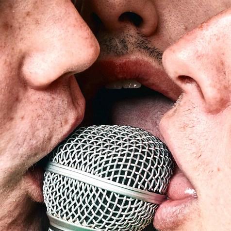Baby Boys Threesome artwork licking microphone