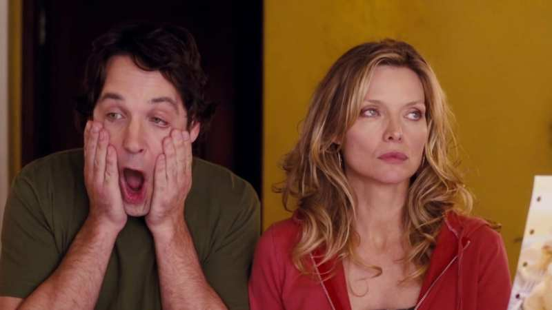 Pauld Rudd and Michelle Pfeiffer in I Could Never Be Your Woman