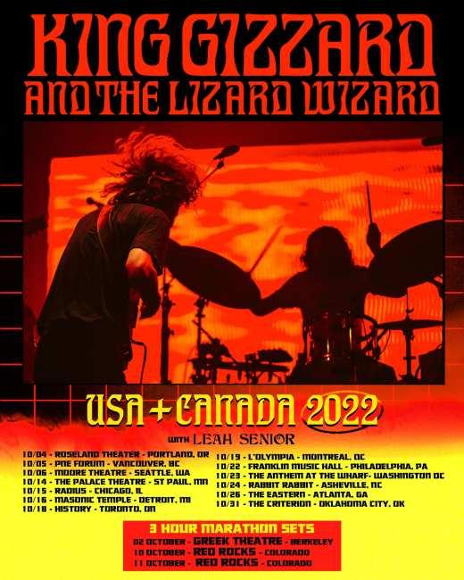king gizzard tour poster