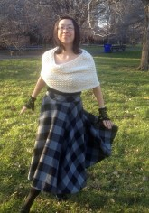 White Chocolate Hand Knit Capelet