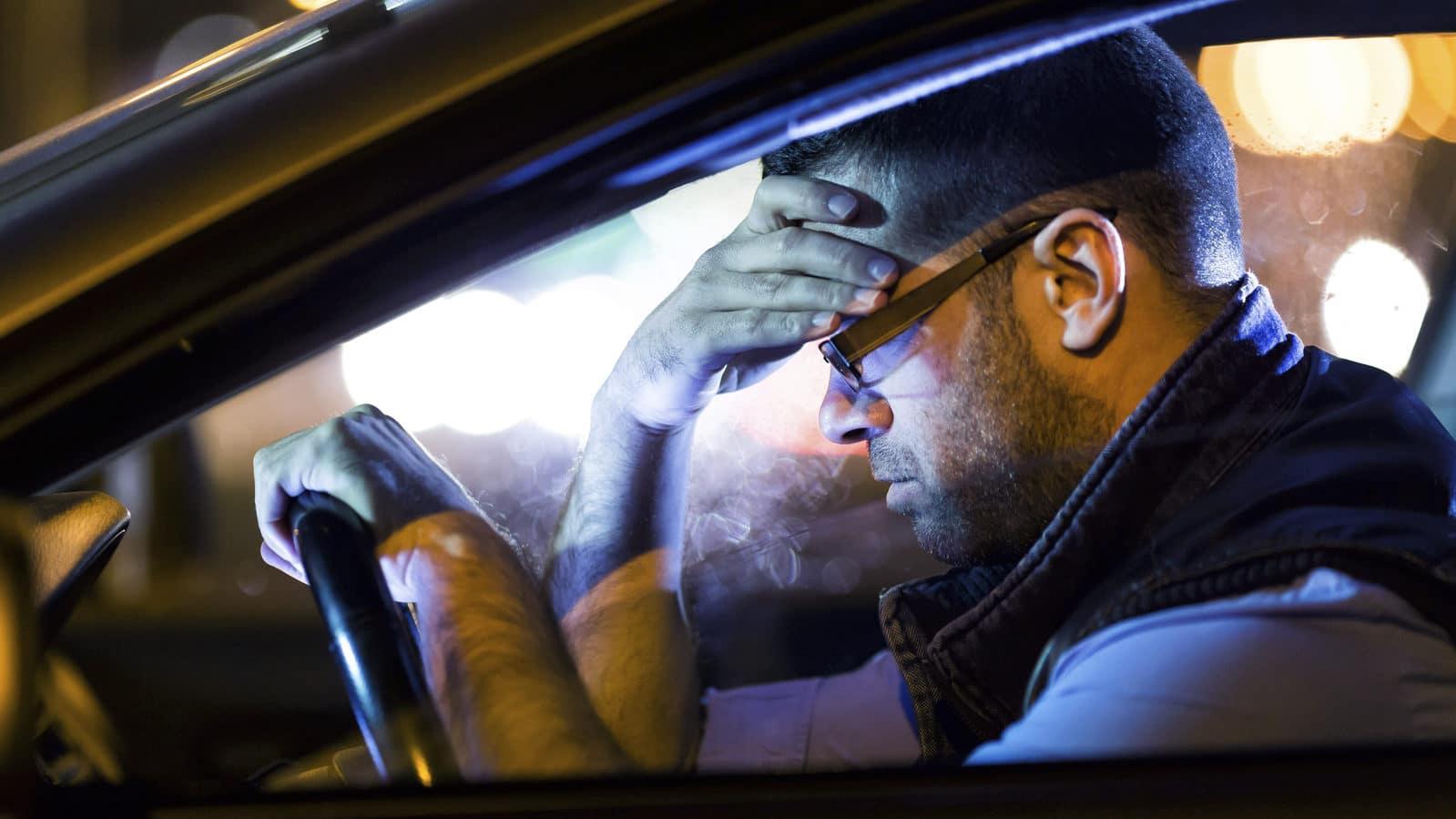 Driving a car at night fatigue