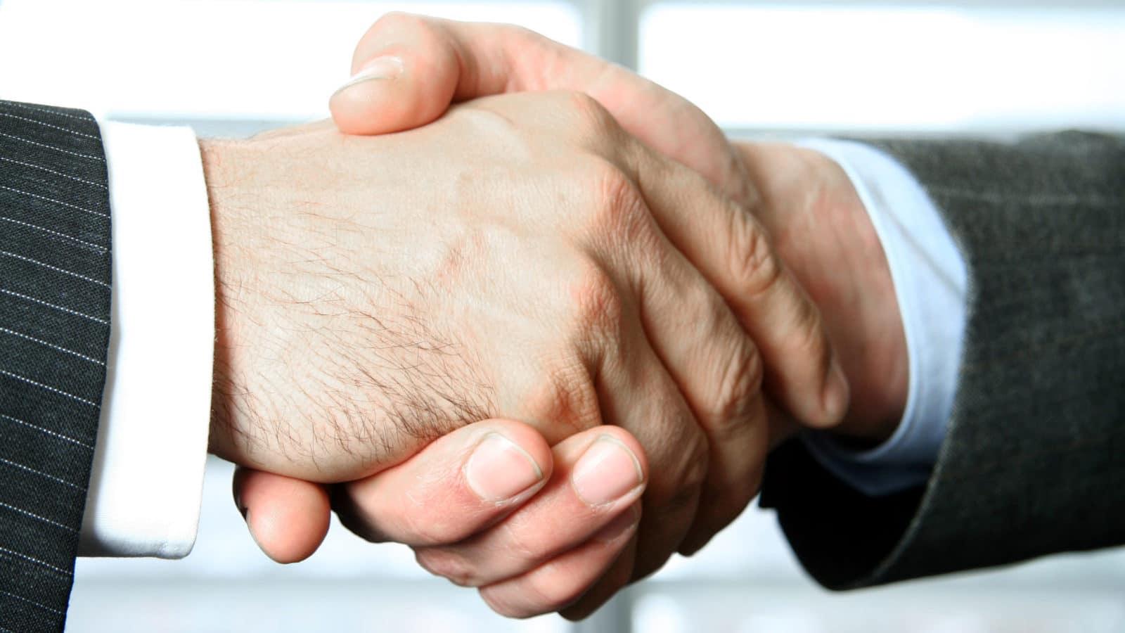 Handshake of two Businesspeople