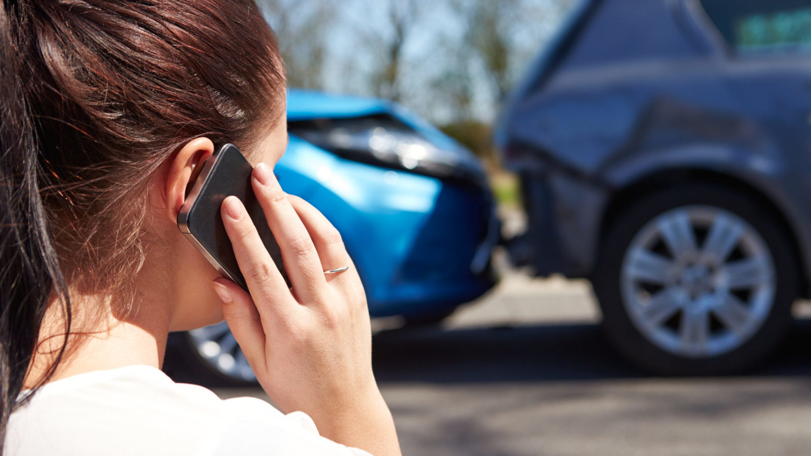 phone call after a car accident