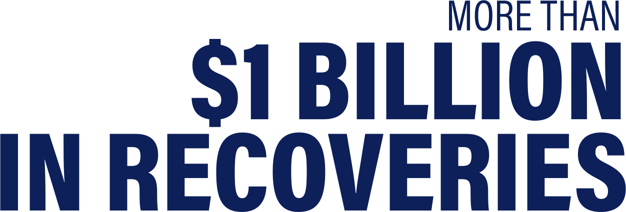 Larry wins more than 1 Billion in recoveries!
