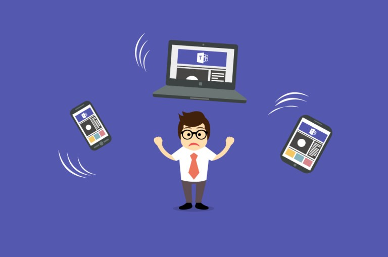 Switching accounts in Microsoft Teams