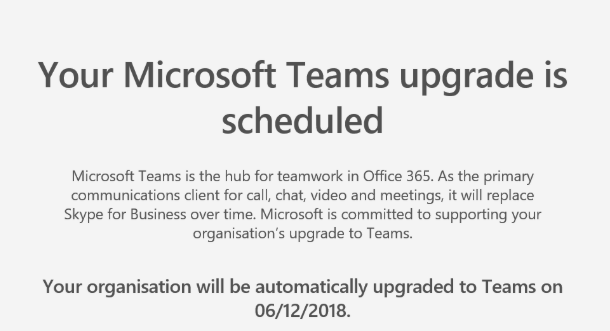 Upgrade Skype for Business to Microsoft Teams