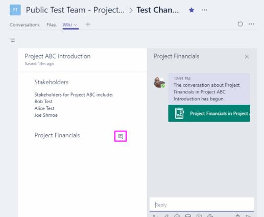 Microsoft Teams wiki