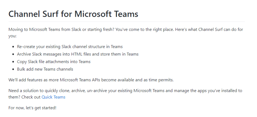 Microsoft Teams Channel Surf