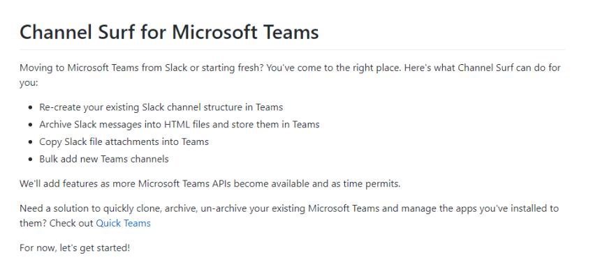 Microsoft Teams Channel Surf