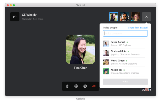 Making a voice or video call