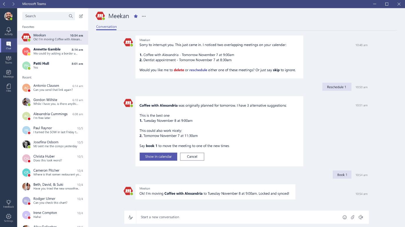 Meekan Microsoft Teams bot
