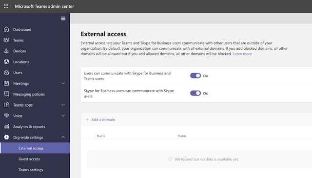 Configuring federation in Microsoft Teams