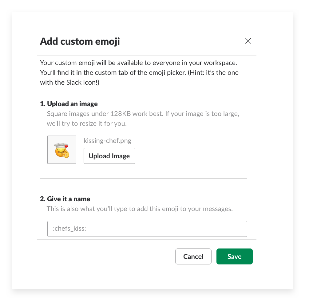 Custom emoji Slack