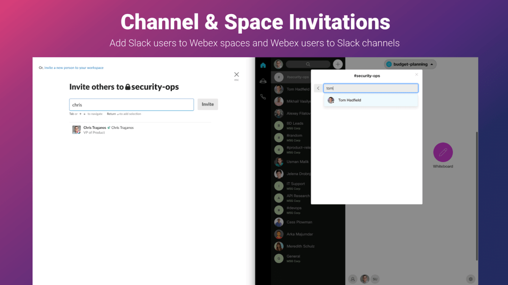 Channel and Space invitations
