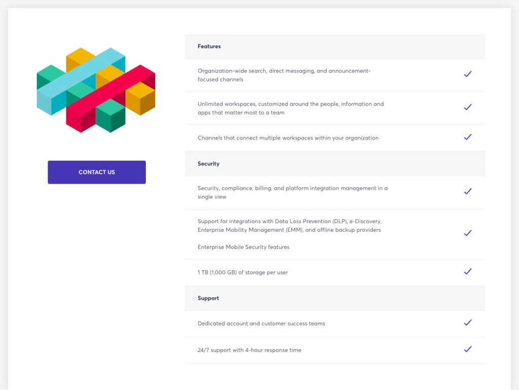 Additional features within Slack