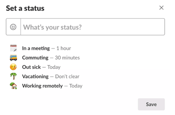 Slack made a minor tweak this week; statuses now auto time out
