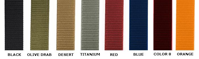 Full ballistic color swatch sample
