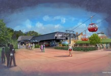 Disney's Skyliner Epcot concept art