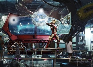 Iron Man coaster Disneyland Paris concept art