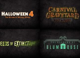 Halloween Horror Nights Orlando 2018 house logos