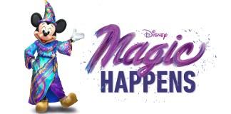 Disneyland Magic Happens parade logo