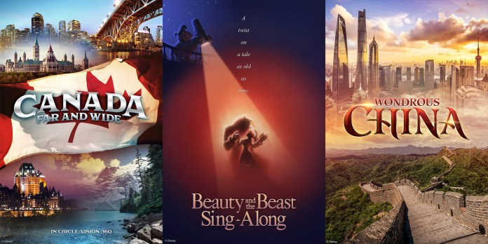 Epcot film posters, Canada, France, China