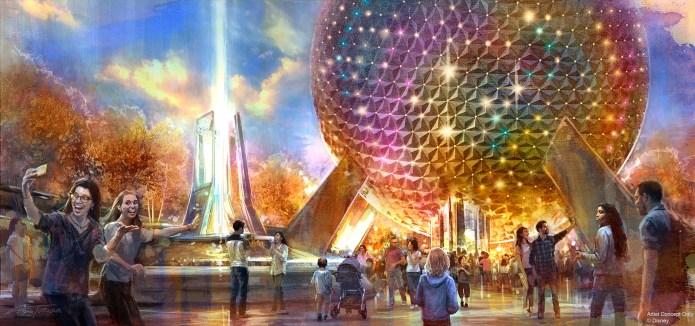 New Epcot entrance fountain concept art
