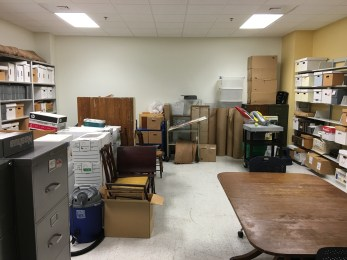 The Acquisitions room post-inventory.