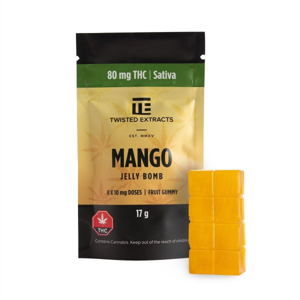Twisted Extracts - Mango Jelly Bomb (80mg THC)