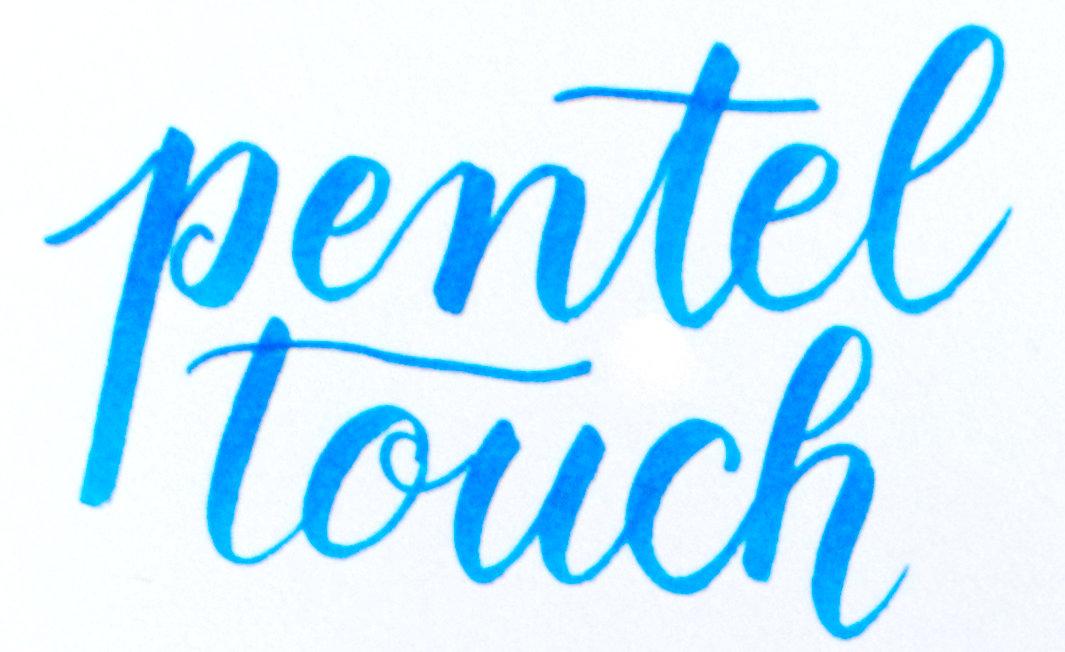Rotuladores de punta de pincel: Pentel touch