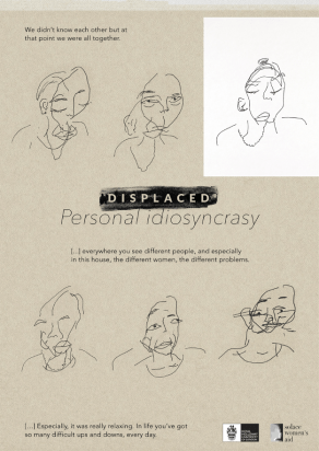Participant 2, Personal Idiosyncrasy, Blind contour portraits of others.