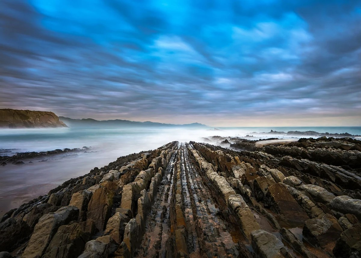 Rocky Coast in Cantabria by Karin Strunge | metal posters