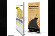 Double side banner stand