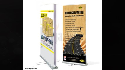 Double Rollup Banner Stand