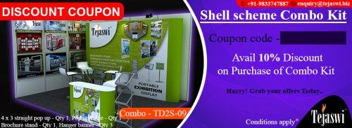 Portable Exhibition Combo Kit Coupon 4x3 Mtr Exhibition Stall