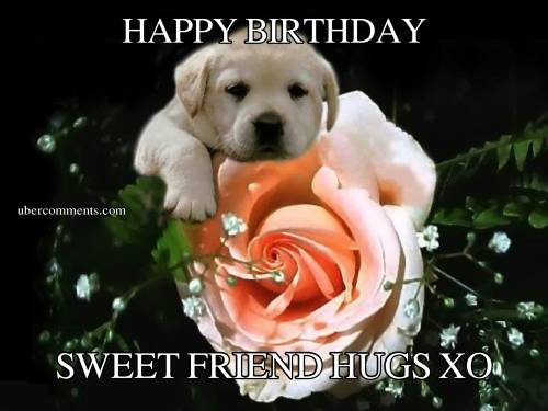 HAPPY BIRTHDAY SWEET FRIEND HUGS XO Birthday Graphics