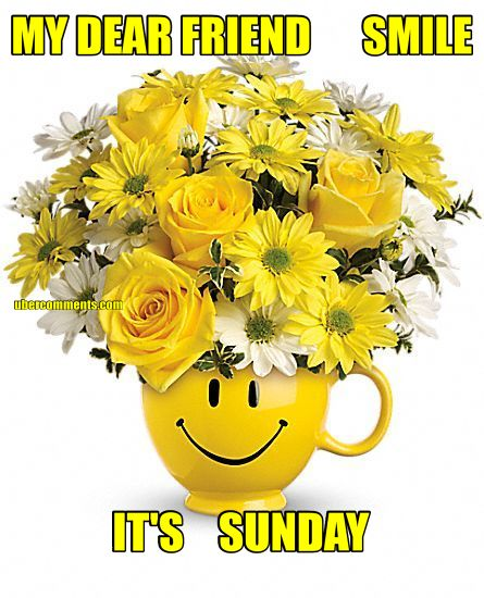 MY DEAR FRIEND SMILE ITS SUNDAY Sunday Graphics For Facebook Tagged Facebook Tumblr Hi5
